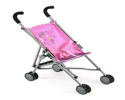 Bayer Chic 2000 Puppenbuggy Roma Jeans Pink Puppenwagen Stroller Puppenkarre