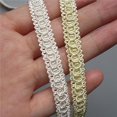 20m Vintage Embroidered Lace Edge Trim Ribbon Wedding Applique DIY Sewing Craft