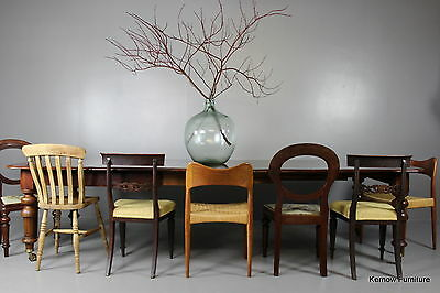 Large Antique Victorian Mahogany Extending Dining Table Seats 12