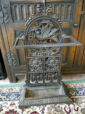 Antique Cast Iron Stick Stand CHRISTOPHER DRESSER ARTS AND CRAFTS AESTHETIC 1880