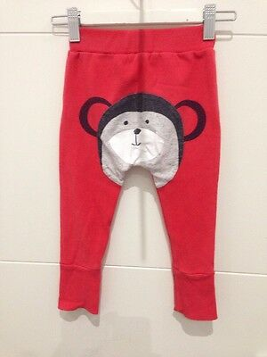 Seed Baby, Red Print Track Pant, Size 12-18mths