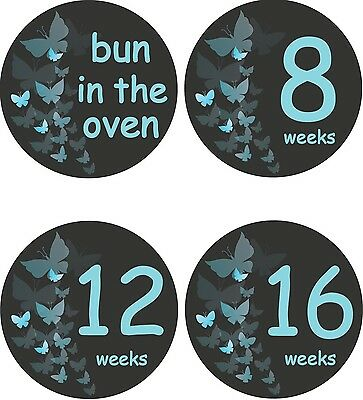 Personalised Weekly Pregnancy Stickers, Belly Stickers, Baby Bump Stickers_P008