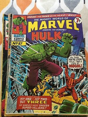 X18 The Mighty World Of Marvel Incredible Hulk Comics Weekly Uk  1974-78 Issues
