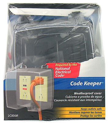Thomas & Betts 2Cknm New Clear Weatherproof Code Keeper Outlet Cover