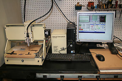 4 Axis Desktop Cnc Router - Engraver Complete With Computer And Software
