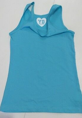 Primark Turquoise Girls  Vest T-shirt Top Age 11-12