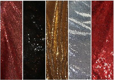 Fine soft Sequins on net sparkly dress fabric, 5 colours @ £9.95/m 1.18m wide