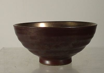 Antique Japanese Finely Potted Tea Bowl Chawan Tea Ceremony Signed Iron Rust
