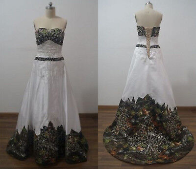 a4ca7aee73688 New Camouflage Wedding Dresses Ball Gown Camo Embroidery Bridal Gowns US  2-16++