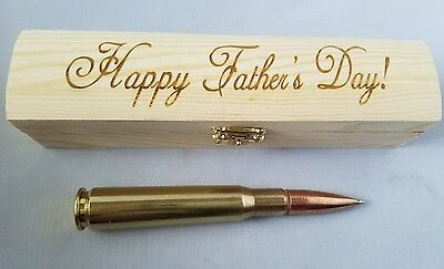 Fathers Day Pen .50 Cal Refillable Bullet Pen Made From 50 caliber BMG Round
