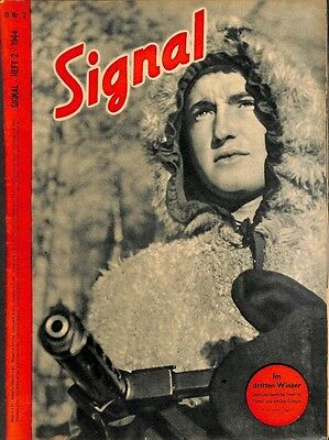5377	 SIGNAL	-No.	D	2-1944	 SIGNAL German issue - illustrated german magazine	We