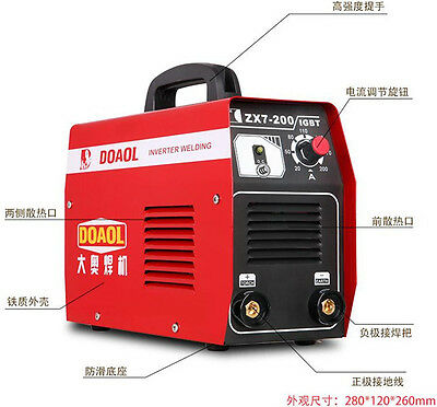 Free shipping 220V Single Phase DC Inverter Welder Electric Welding Machine