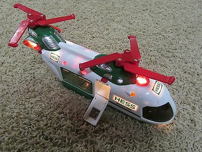 Hess Gasoline 2001 Helicopter Lights Motorized Dual 2 Double Red Rotors Carrier