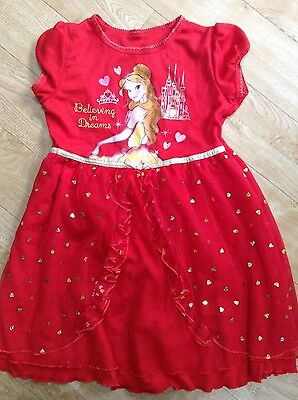 Disney Belle Red Nightdress age 5-6 years (up to 116cm)