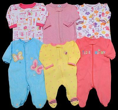 Baby GIRL Newborn 0-3 months small SLEEPER PAJAMA Clothes LOT
