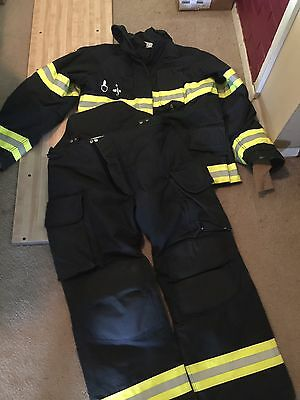 Black Fire Dex Firefighter Gear Pant And Jacket