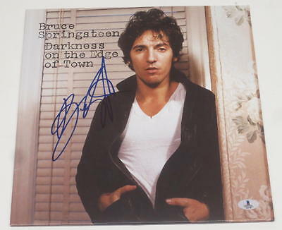Bruce Springsteen Signed Darkness On The Edge Of Town Vinyl Exact Proof Bas Coa