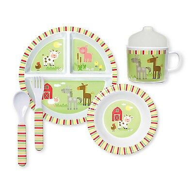 C.R Gibson - Melamine Dinnerware Set, Friendly Farm (BMGS2-16423)