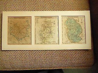 Old County Maps Leicestershire, Nottinghamshire, and Lincolnshire
