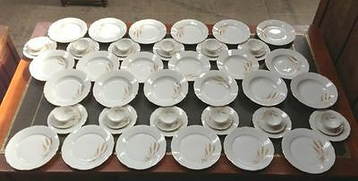 DINNER SET 12 Place Setting Rare  Golden Wheat Pattern- a650h