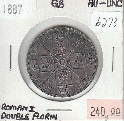 United Kingdom / Great Britain Double Florin 1887 Roman I