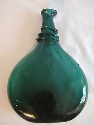 Antique Persian Saddle Flask Rare Glass Authentic