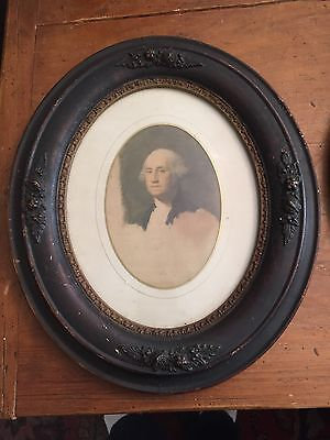 Antique Victorian oval wood & gesso frame