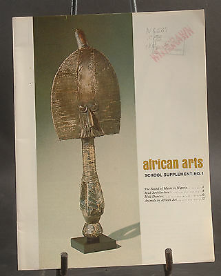 African Arts School Supplement No. 1, 2 & 3 @1968 African Studies Center U of CA