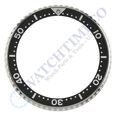 Genuine Seiko Black Rotating Bezel Complete 86016595 for SRP777 4R36-04Y0
