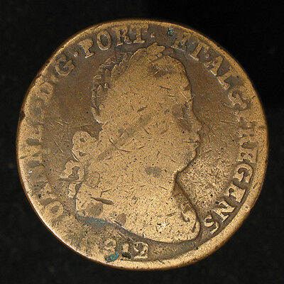 1812 Portugal 40 Reis large, thick copper coin