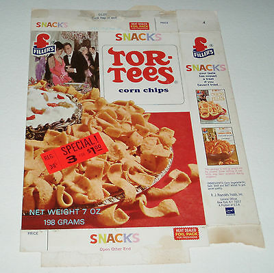1960's Filler's TOR-TEES crackers snack food box