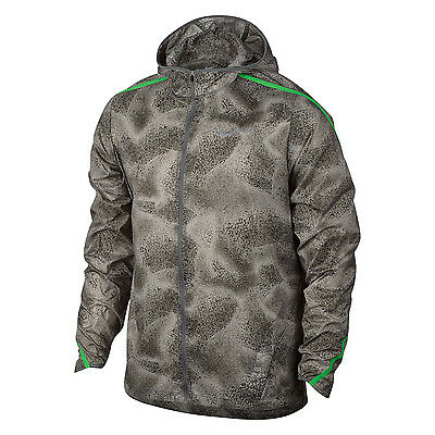 New Nike Men's Shield Impossibly Light Jacket with hood/wind and water resistant