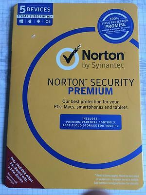 Norton Security Premium Multi Device 5PC / 5Device 3Years NEXT DAY KEY DELIVERY