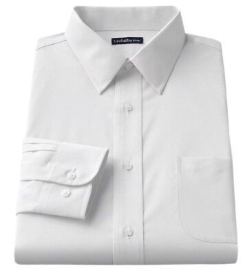 Men's Croft & Barrow Classic-Fit Easy Care Point-Collar Dress Shirt - White