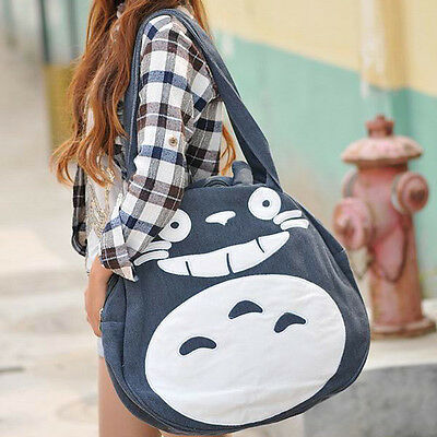 Anime My Neighbor Totoro Messenger Bag Aslant School Bag Blue Color 2017