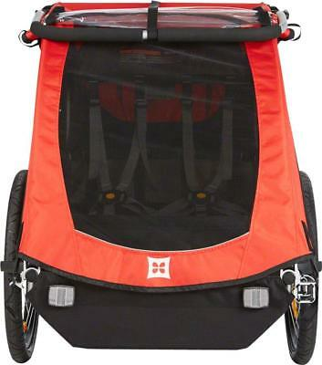 Burley Honey Bee Child Bicycle Trailer: Red with single wheel stroller kit