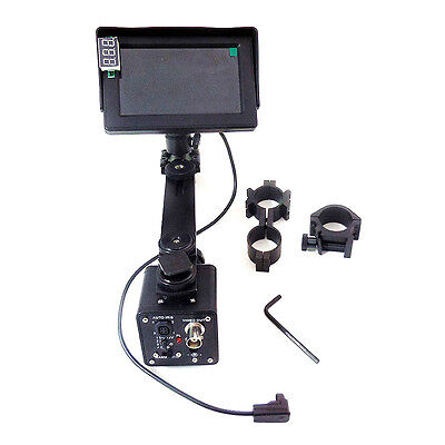 Day Night Use DIY Night Vision Camera Device w/ LCD Screen Mount for Rifle Scope