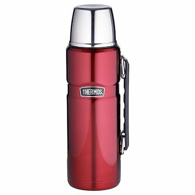NEW Thermos 1.2 Litre King Flask - Red Insulated stainless steel serving cup