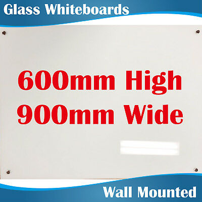 Magnetic Glass Whiteboard Whiteboards White Board 900mm highx600mm wide