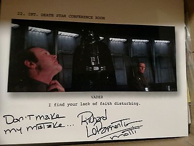 AUTOGRAPHED STAR WARS A New Hope 8X10 ADMIRAL MOTTI  - Richard LeParmentier