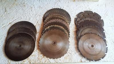 Table Saw Blades Lot Of 17 Used / Some Vintage  Free Shipping Sale