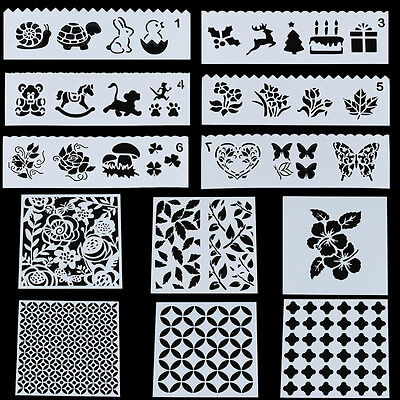 Reusable Stencil Template Airbrush Painting Arts Scrapbooking Paper DIY Crafts
