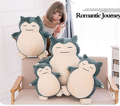 Jumbo Pokemon Snorlax Plushie Snor lax Pillow Cushion Plush Doll Soft Toy Gift