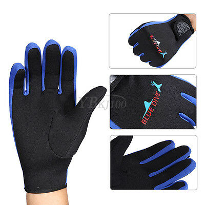 Durable Scuba Diving Surfing Snorkeling Kayaking Gloves 1.5mm Neoprene OB