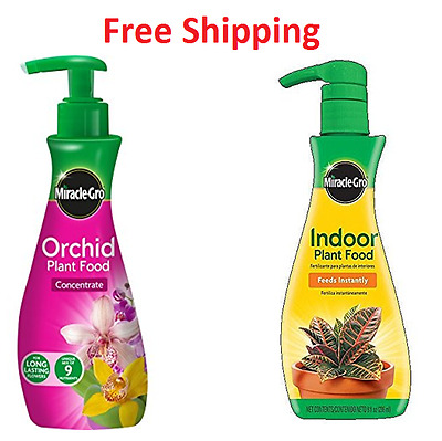 Miracle-Gro Orchid and Indoor Plant Food Concentrate Pump, 236 Ml Garden Feeds