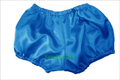 Dodger Blue Satin Pants Pantaloons Sissy Maid Adult Baby Fits With Underwear