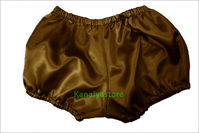 Gold Women Satin Pants Pantaloons Sissy Maid Adult Baby Fits With Underwear