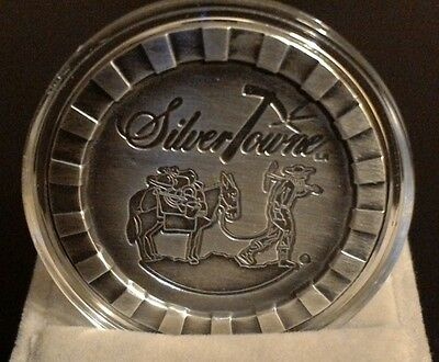 1 oz SilverTowne Prospector Stackable Silver Round (New-Antique Finish)