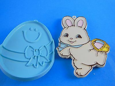 "Set of 2 Vintage Easter Bunny & Egg cookie cutters 3.5"" -4.5"""