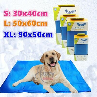 New Dog Cat Cool Bed Gel Mat Non-Toxic Cooling Summer Bed Pad 4 Size Large Cheap